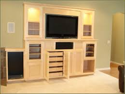 Unfinished Bookcases With Doors Large Unfinished Wood Television Cabinet Entertainment Center With
