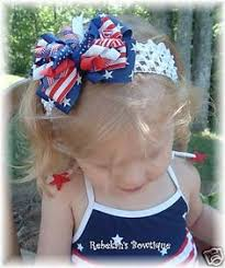 white and blue headband 4th of july white blue flowers headband hair bow w mega