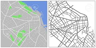 Buenos Aires Map Illustration City Map Of Buenos Aires Royalty Free Cliparts