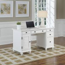 Computer Desk Styles Amazon Com Home Styles 5543 18 Bermuda Pedestal Desk Brushed