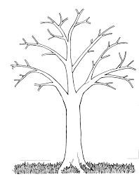 leafless tree coloring page eson me