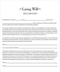 Template Wills by Sle Living Will 7 Documents In Pdf Word
