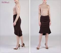 back pleated fishtail skirt brown pencil skirt ruffle skirt