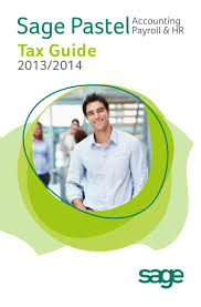 sage pastel accounting payroll and hr tax guide for 2013 2014