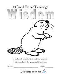 wisdom color page wood badge beavers pinterest wisdom