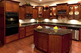Cherry Wood Kitchen Cabinets With Black Granite Breathtaking Granite Countertops Color Cherry Wood E Cherry