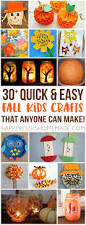 make these quick easy autumn fall kids crafts in under 30