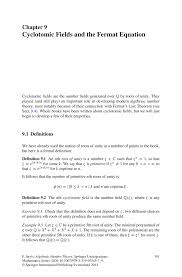 How To Develop A Resume Cyclotomic Fields And The Fermat Equation Springer
