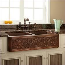 undermount kitchen sink with faucet holes kitchen room wonderful copper apron sink lowes bronze kitchen