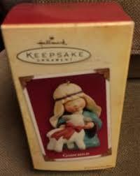 Goddaughter Christmas Ornaments Hallmark Christmas Ornament Teddy Bear Angel W Lute Godchild W Box
