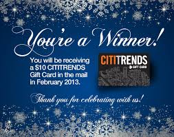 free cititrends gift card mylitter one deal at a time