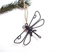 dragonfly wire sculpture insect wire home and by wiredbybud