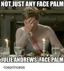 Facepalm Memes - not just any face palm julieandrews facepalm iceprincess facepalm