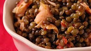 cuisiner les lentilles vertes lentilles vertes du puy tomate saumon recettes site officiel