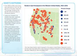 Map Of West United States by Climate Signals Map Trends In April Snowpack In The Western