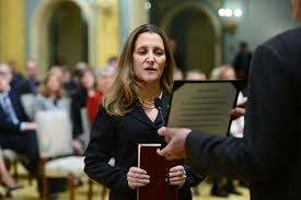 Russian Cabinet Canada Says No U0027quid Pro Quo U0027 With Russia On Lifting Freeland
