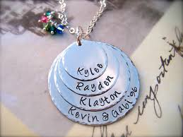 necklace personalized pendant images Mother 39 s day exclusive four disc personalized pendant necklace jpg