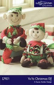 sewing patterns christmas elf closeout yo yo christmas elf sewing pattern from indygo junction