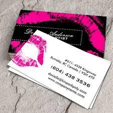 hot pink makeup business cards