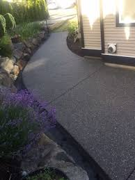 Exposed Aggregate Patio Pictures by Black Exposed Aggregate Concrete Patio Sidewalk Stairs