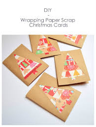 wrapping paper scrap christmas cards