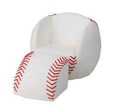 bean bag chair with ottoman amazon com gift mark chair and ottoman baseball kitchen dining