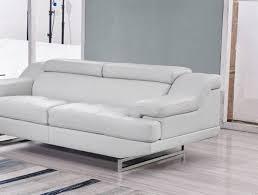 global furniture bonded leather sofa global furniture u8141 gr natalie modern light grey bonded leather