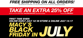 furniture stores black friday macy u0027s black friday in july free shipping on all orders