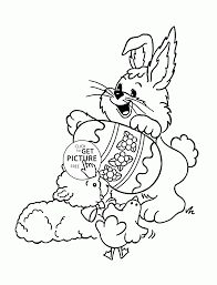funny animals and easter egg coloring page for kids holiday