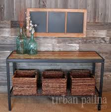 Metal Entry Table Patina Authentically Crafted Home Gift Reclaimed Sofa