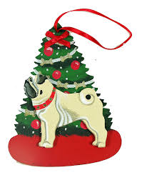 fawn pug dog lover christmas ornaments u2013 for the love of dogs