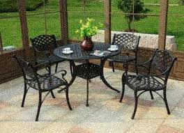 Decorating Terrific Wrought Iron Patio Furniture Lowes For - Black outdoor furniture