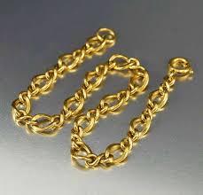 vintage infinity bracelet images Vintage infinity chain bracelet 12k gold filled charm bracelet jpg