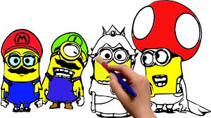 minions super mario edition coloring book cartoon movie