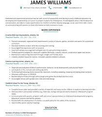 Sample Resume For Assistant Teacher In Preschools by Resume For Preschool Teacher Resume For Your Job Application