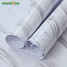 online get cheap kitchen cabinet pvc countertop aliexpress com 5m 16 4ft glossy marble diy vinyl decorative film kitchen cabinet countertop pvc self adhesive