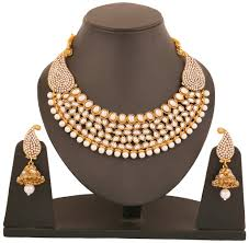 ethnic gold necklace images Touchstone antique gold plated rich traditional indo western jpg