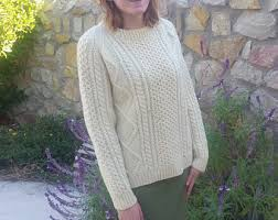irish knit sweater etsy