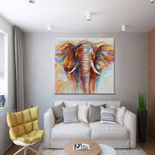 home decoration painting 32 32 hand painted oil painting elephant unframed canvas wall