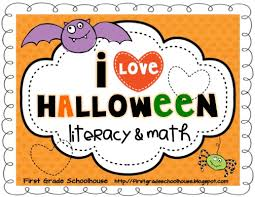 first grade schoolhouse halloween math and calendar math