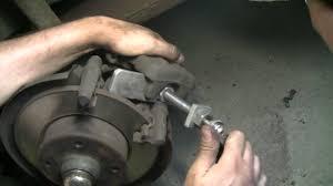 vw passat replacing rear brake pads youtube