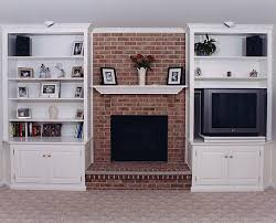 Hearth Cabinets Bookcase Built In Bookshelves Around Fireplace Custom Built