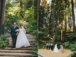 california weddings outdoor wedding ceremony at redwood hitheatre berkeley