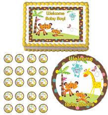 fisher price safari jungle baby shower edible cake cupcake toppers fisher price safari jungle baby shower edible cake cupcake toppers party