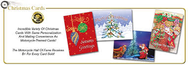 christmas cards themed the motorcycle of fame greeting card shop