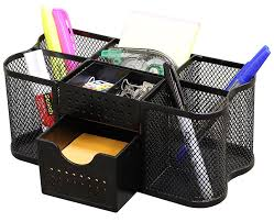 Revolving Desk Organizer by Amazon Com Decobros Desk Supplies Organizer Caddy Black