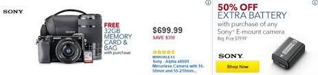 sony a6000 black friday best buy u0027black friday u0027 2016 massive camera deals