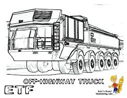 macho construction coloring etf dump truck train tell other kids