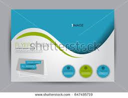 flyer brochure billboard template design landscape stock vector