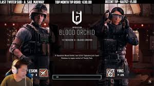 R6 Siege Operation White Noise Ela And Twitch Rainbow Six Siege Blood Orchid Start Up Screen Season Pass